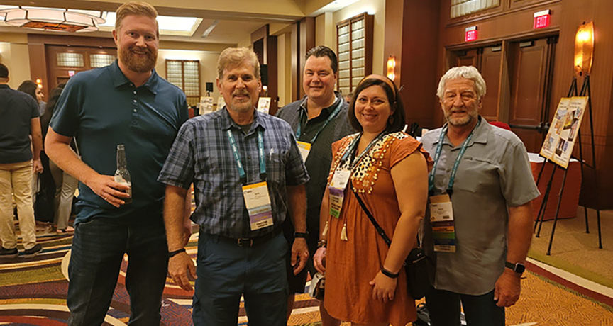 Board of Directors Attends 2021 IIBEC Convention, Presents Foundation with Chapter Donation